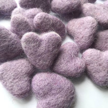 Lilac Wool Felted Heart