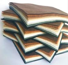 Animal Colours - Felt Bundle 10 Shades - Wool Blend Felt - 4 sheet sizes