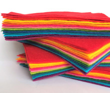 Bright Bundle 15 Shades - Wool Blend Felt - 4 sheet sizes