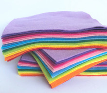 Over The Rainbow Bundle 15 Shades - Wool Blend Felt - 4 sheet sizes