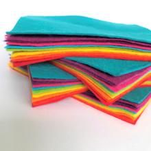 Bright Bundle 10 Shades - Wool Blend Felt - 4 sheet sizes