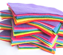 Over The Rainbow Bundle 10 Shades - Wool Blend Felt - 4 sheet sizes