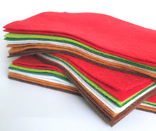 Christmas Bundle 10 Sheets of Wool Blend Felt - 4 sheet sizes