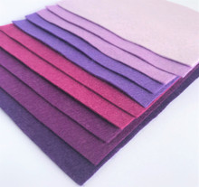 Purples Bundle 10 Sheets of Wool Blend Felt - 4 sheet sizes
