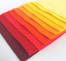 Flame Bundle 10 Sheets of Wool Blend Felt - 4 sheet sizes