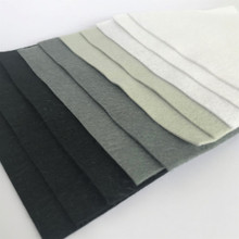 Monochrome Bundle 10 Sheets of Wool Blend Felt - 4 sheet sizes