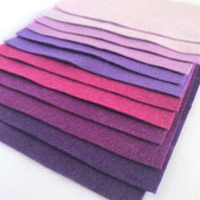 Purples - 12 Sheets of Wool Blend Felt - 4 sheet sizes