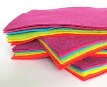 Bright Bundle - 7 Sheets 7 Shades - Wool Blend Felt