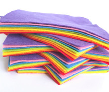 Over the Rainbow Bundle - 7 Sheets 7 Shades - Wool Blend Felt