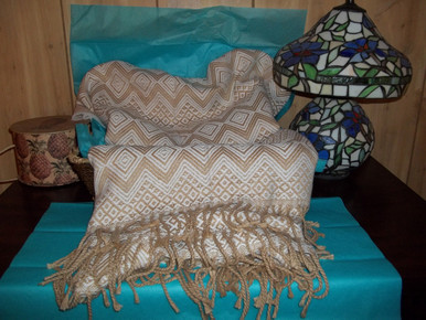 Diamond Weave Alpaca Throw