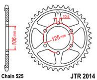Catalina JT Sprockets para Triumph Street Triple 675 (JTR2014.47)