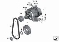 Cambio de Correa Generador R1200GS/GSA/HP2 (11318528385-Cambio)