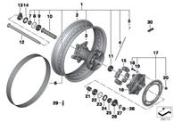 Rodamiento Hub Corona F650/700/800 GS/GT/Adventure/Dakar (07119981221)