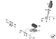 Goma para Pedal Piloto F650/F700/F800 GS/GSA (46717712957)