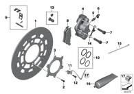 Perno de Caliper para BMW F700GS/F800GS M10x40-Z1-10.9 (07129903976)