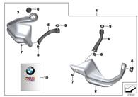 Set Cubrepuño BMW para R1200GS LC/ADV