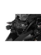 Protección de Acero Inoxidable Para los Faros, Negra, con Cierre Rápido Para Faro Halógeno, Para BMW R1200GS Desde 2013 ( 01-045-5096-0)