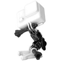 Características:           Compatible con cámaras HERO, HERO2, HERO3, HERO3+ y HERO4          Giratorio hasta 360°          2 brazos giratorios adicionales de 180°          El posicionamiento de un solo tornillo es fácil de usar          Montaje para GoPro          2 tornillos de montaje y tuercas de seguridad