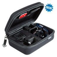 Perfecta organización de tu cámara HERO4 con el Pov Case Session XS - Gadgets POV  Case Session XS, tiene espacio para su cámara, marco, hebillas, tornillo de liberación rápida y adaptador de tarjeta SD, todo óptimamente protegido, con compartimentos adicionales ajustables.