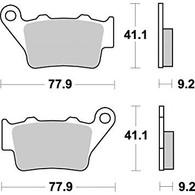 Pastilla de Freno Trasera Braking para BMW F650GS/F700/F800GS