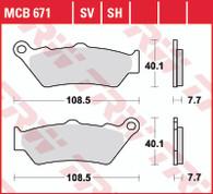 TRW Pastilla de Freno Delantero para BMW F650/F700/F800GS/ADV. (MCB671SV