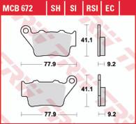 TRW Pastilla de Freno Trasera para BMW G310GS/R/F650/F700/F800GS/ADV/ Yamaha XT660Z/R (MCB672SH)