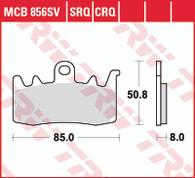 TRW Pastilla de Freno Delantero para BMW R1200GSW LC / Tiger Explorer 1200 XC,XCX,XCA,XR,XRX,XRTABS