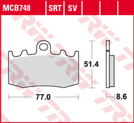 TRW Pastilla de Freno Delantera para BMW R1200GSA/GT/ADV/RT (MCB748)