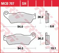 TRW Pastilla de Freno Trasero para BMW R1200GSA/GT/ADV/RT (MCB707)