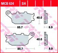 TRW Pastilla de Freno Trasero Para Honda CRF 1000 Africa Twin/DL650/DL1000 02-09 (MCB634)