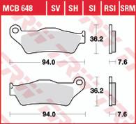 TRW Pastilla de Freno Delantero para Yamaha XT660Z/R (MCB648SV)