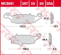TRW Pastilla de Freno Delantero para Kawasaki Versys 650. (MCB681)