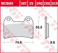 TRW Pastilla de Freno Delantero para BMW F800R //KTM 1050-1090