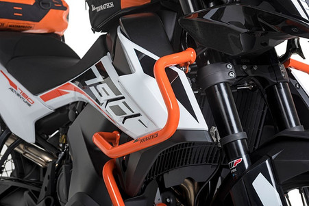 Defensa Alta (Estanque) Touratech Acero Inox Naranja para KTM 790 ADVENTURE/ 790 ADVENTURE R (01-372-5162-0)