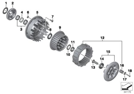 Campana Discos Separadores de Embrague para BMW F650GS/F700GS/F800GS/ ADV (21217690423)