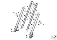 Kit Retenes y Guardapolvos para BMW R1200GSW. (31428532723)