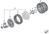 Discos y Separadores de Embrague para BMW R1200GSW (21218529448 )