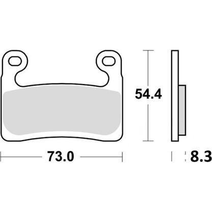 TRW Pastilla de Freno Delantero para BMW R1250GS (MCB901SV)