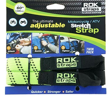 PACK ROK STRAPS VERDE REFLECTANTE 1,50 MTS (020)