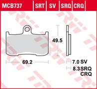 TRW Pastillas de freno delantera para Triumph Speed Triple (MCB737SV)