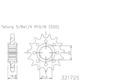 Piñon ESJOT para Honda NC 750 (50-32172-17)