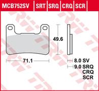 TRW Pastilla de Freno Delantera para Suzuki V-STROM DL 1000 17-20/Kawasaki Z1000/ZX (MCB752SV)