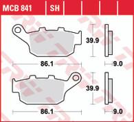 TRW Pastilla de Freno Trasera para Honda CB500X/XA/F/CBR - NC750X/XA - Versys 650 desde 2017. (MCB841SH)