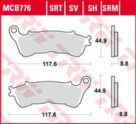 TRW Pastilla de Freno Delantera para Honda VFR Crosstourer 1200/XL Varadero 1000 (MCB776SV)