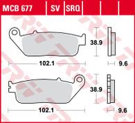 TRW Pastilla de Freno Delantero para HONDA NC750/CB500 (MCB677SV)