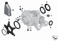 O-Ring Diferencial R1200 GS/GSA OC/LC (33117695219)
