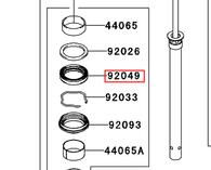 Retén Suspensión Del. Kawasaki KLE650CBF (92049-0058)