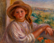 Pierre Auguste Renoir - Girl on a Balcony Cagnes