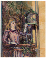 Paul Cezanne - Girl with Birdcage