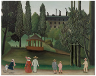 Henri Rousseau - View of Montsouris Park the Kiosk